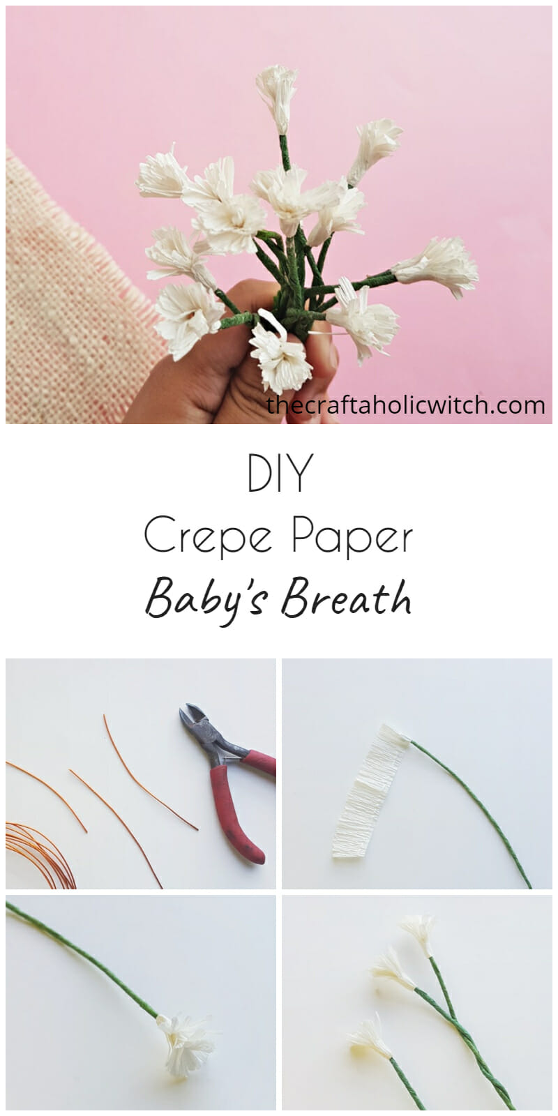 crepe paper baby's breath flowers