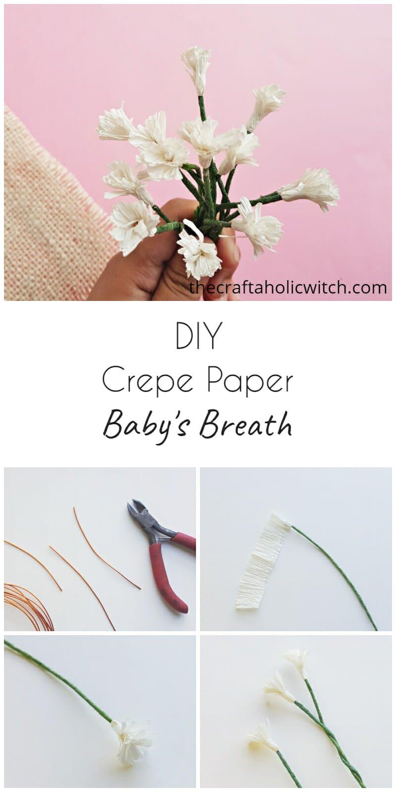 crepe paper baby's breath flowers