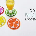 DIY Felt Fruit Coasters
