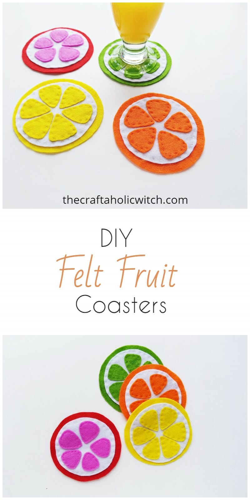 Fruit coasters DIY