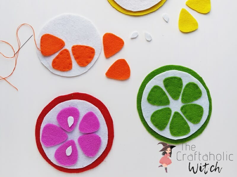 fruit coasters tutorial