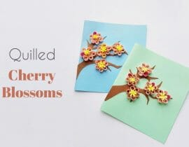 Quilled Cherry Blossoms
