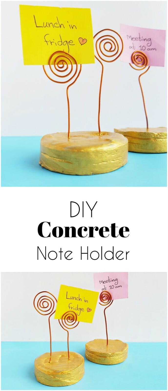 concrete note holders