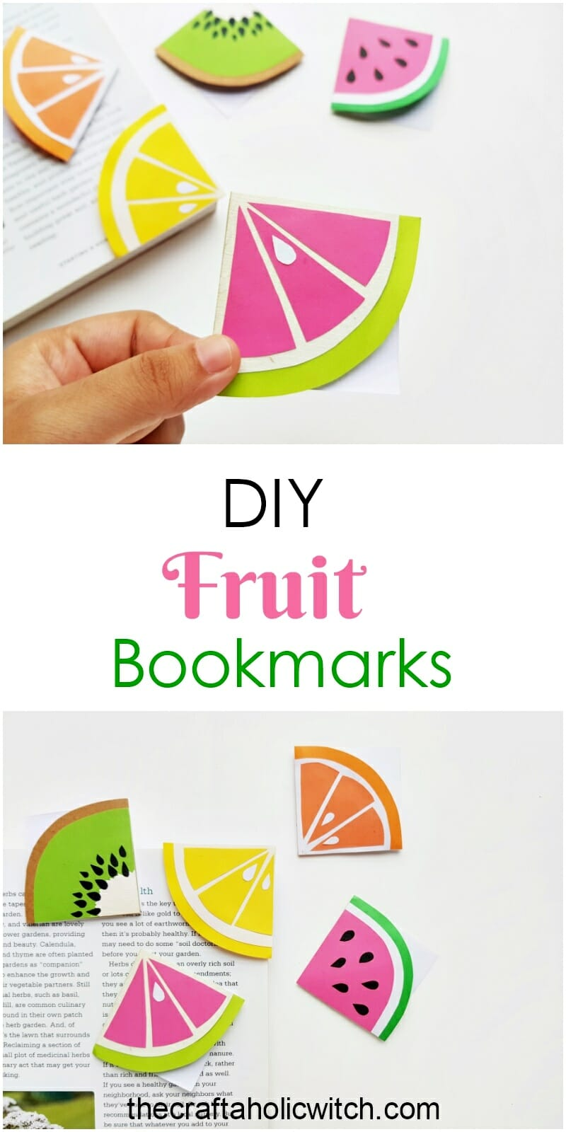 summer fruit bookmarks