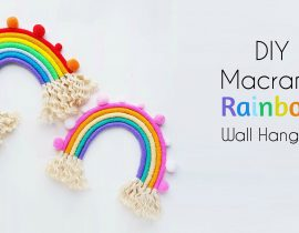 DIY Macrame Rainbow Wall Hanging