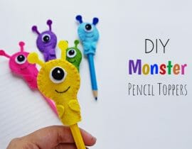 DIY Pencil Toppers: Two Easy Tutorials with Free Patterns
