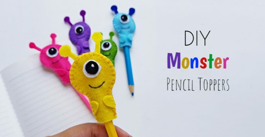 DIY Monster Pencil Toppers