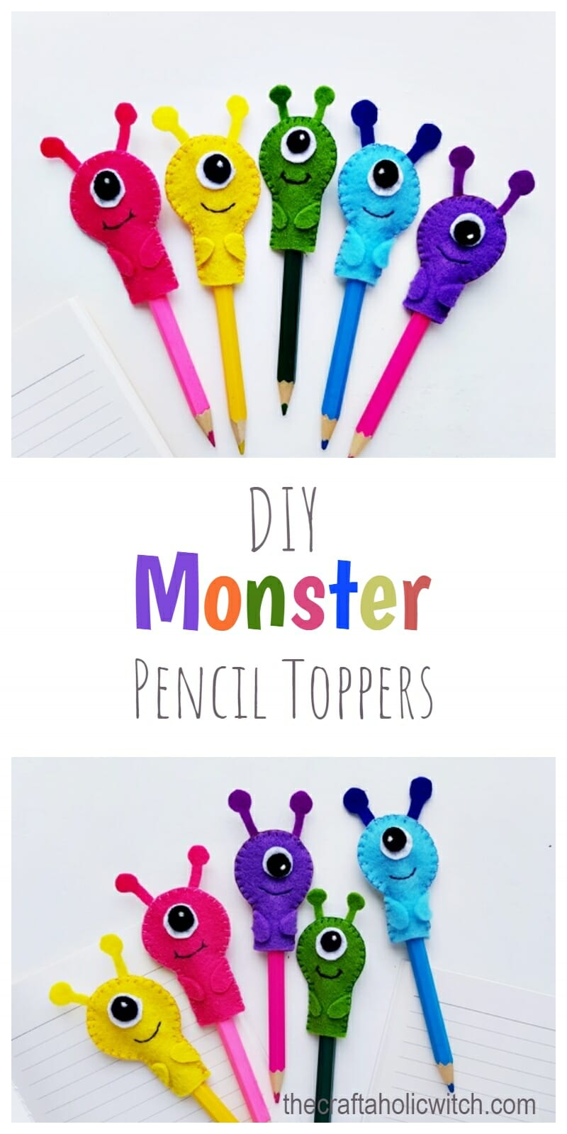 monster pencil toppers pinterest