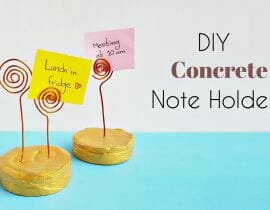 DIY Concrete Note Holders
