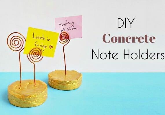 DIY Concrete Note Holders