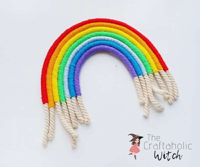 macrame rainbow wall decor