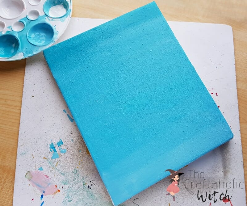 Abstract paint on canvas