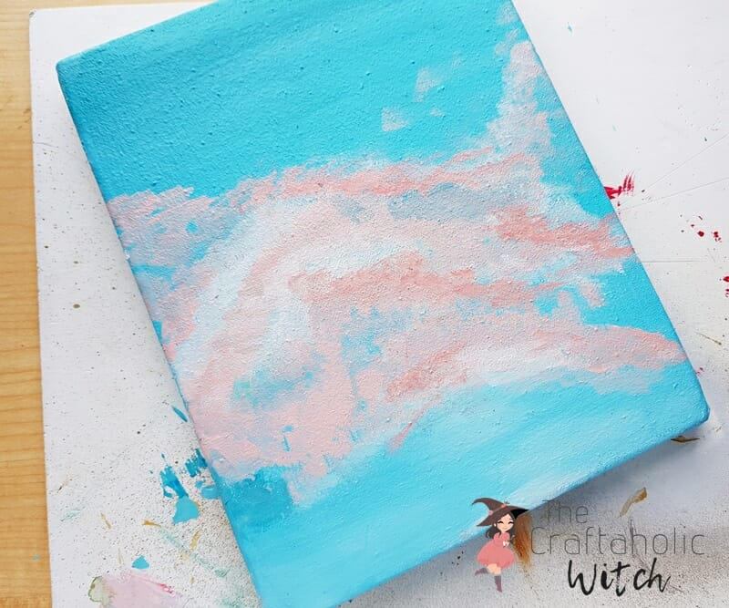 Abstract paint on canvas for beginners