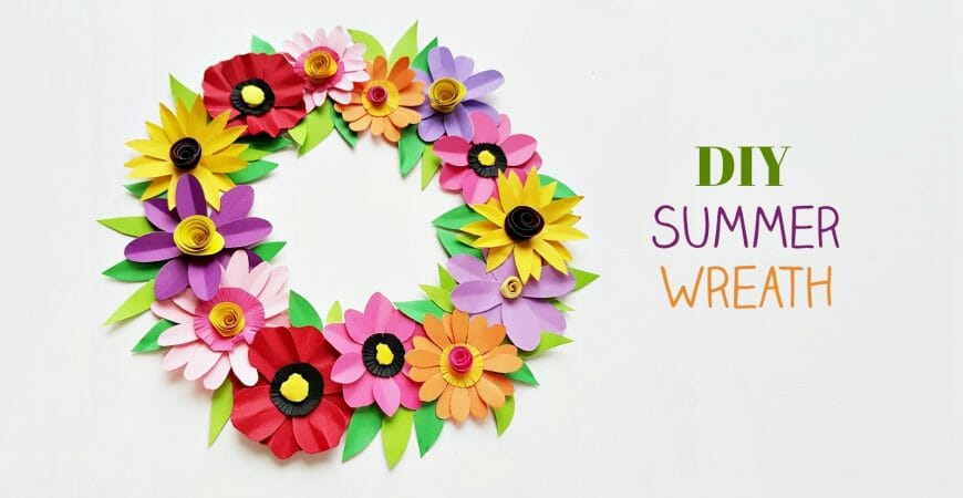 DIY Paper Flower Wreath