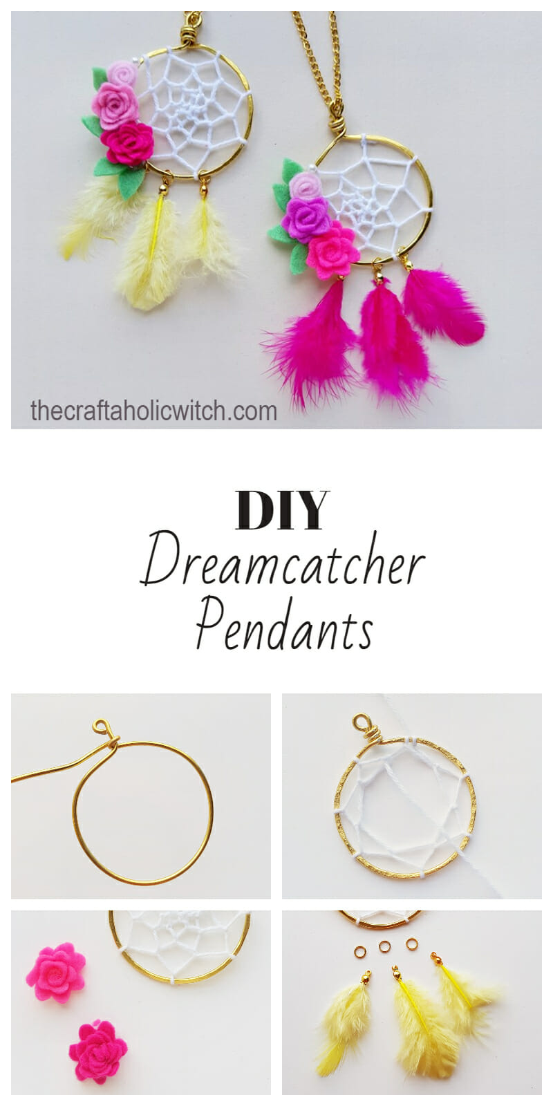 DIY dreamcatcher pendant