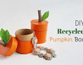 DIY Recycled Pumpkin Box