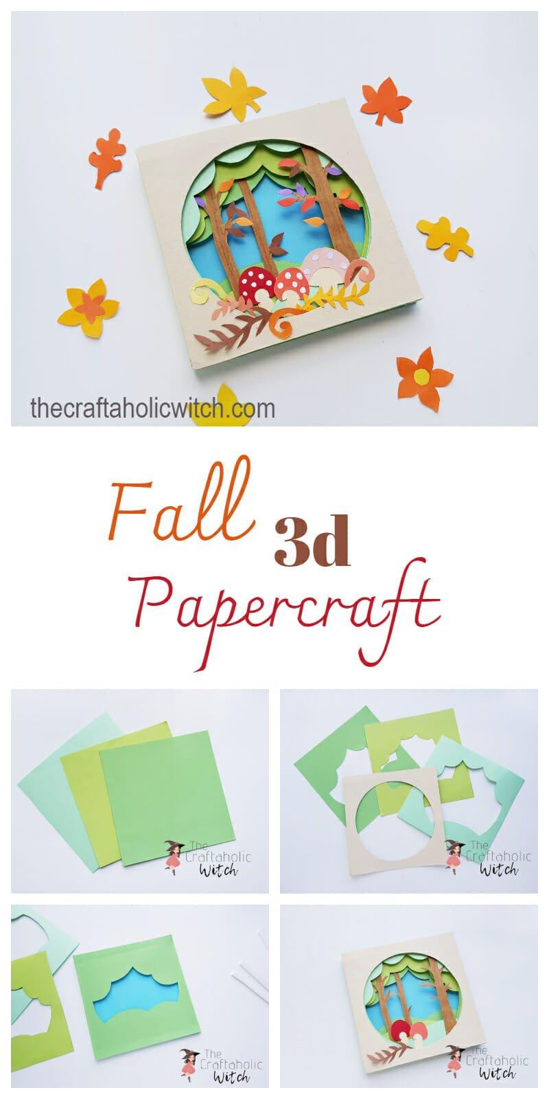3d papercraft scene