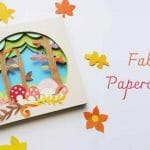 Fall Inspired 3d Papercraft Scene