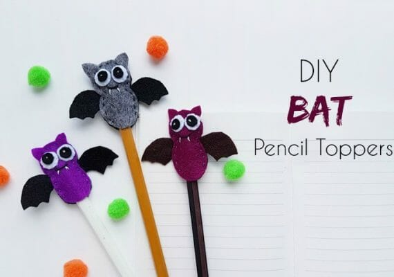 DIY Bat Pencil Toppers (Free Pattern)
