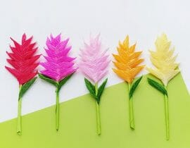 DIY Crepe Paper Ginger Flower