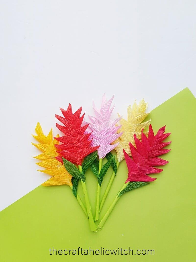 crepe paper flower craft