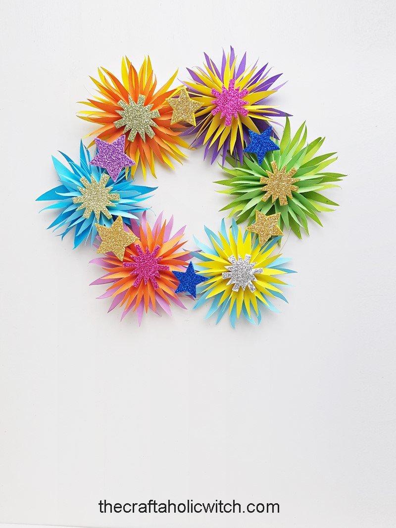 DIY new year's wreath