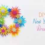 DIY New Year's Wreath – Papercraft
