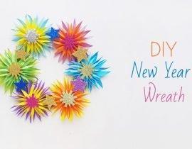 DIY New Year's Wreath – Papercraft
