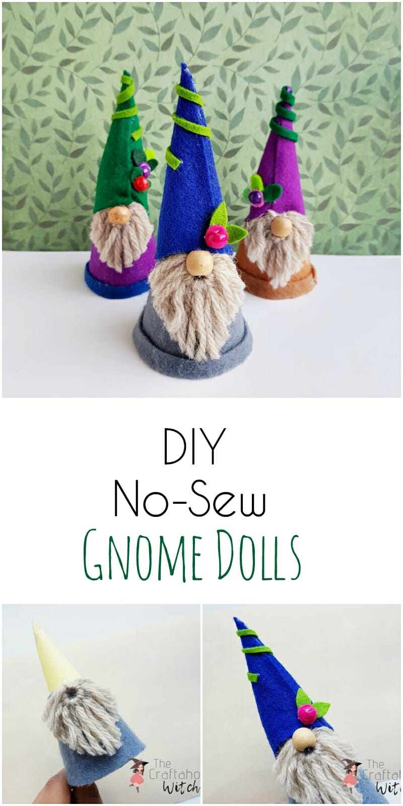DIY No-Sew Gnome Dolls