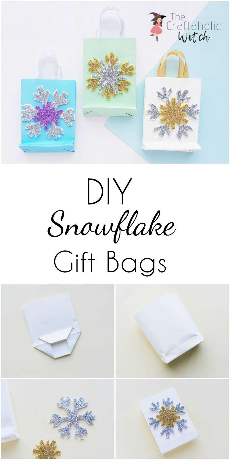 DIY Gift Bags! Let's Make a Customised Snowflake Gift Bag