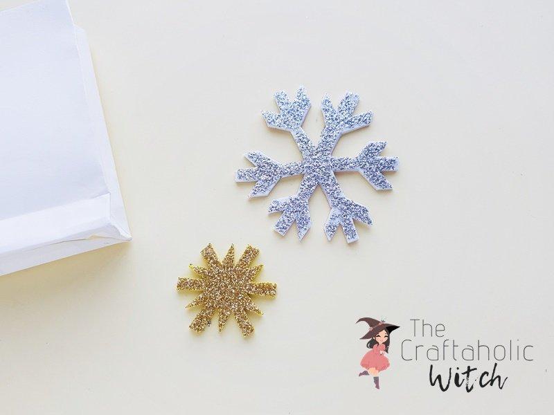 DIY snowflake gift bags