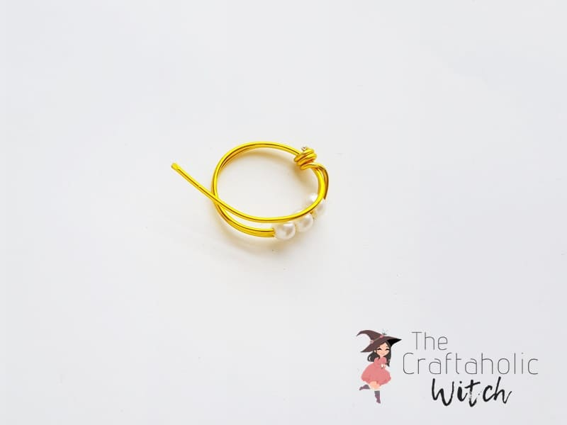 DIY Beaded Wire Ring : Step