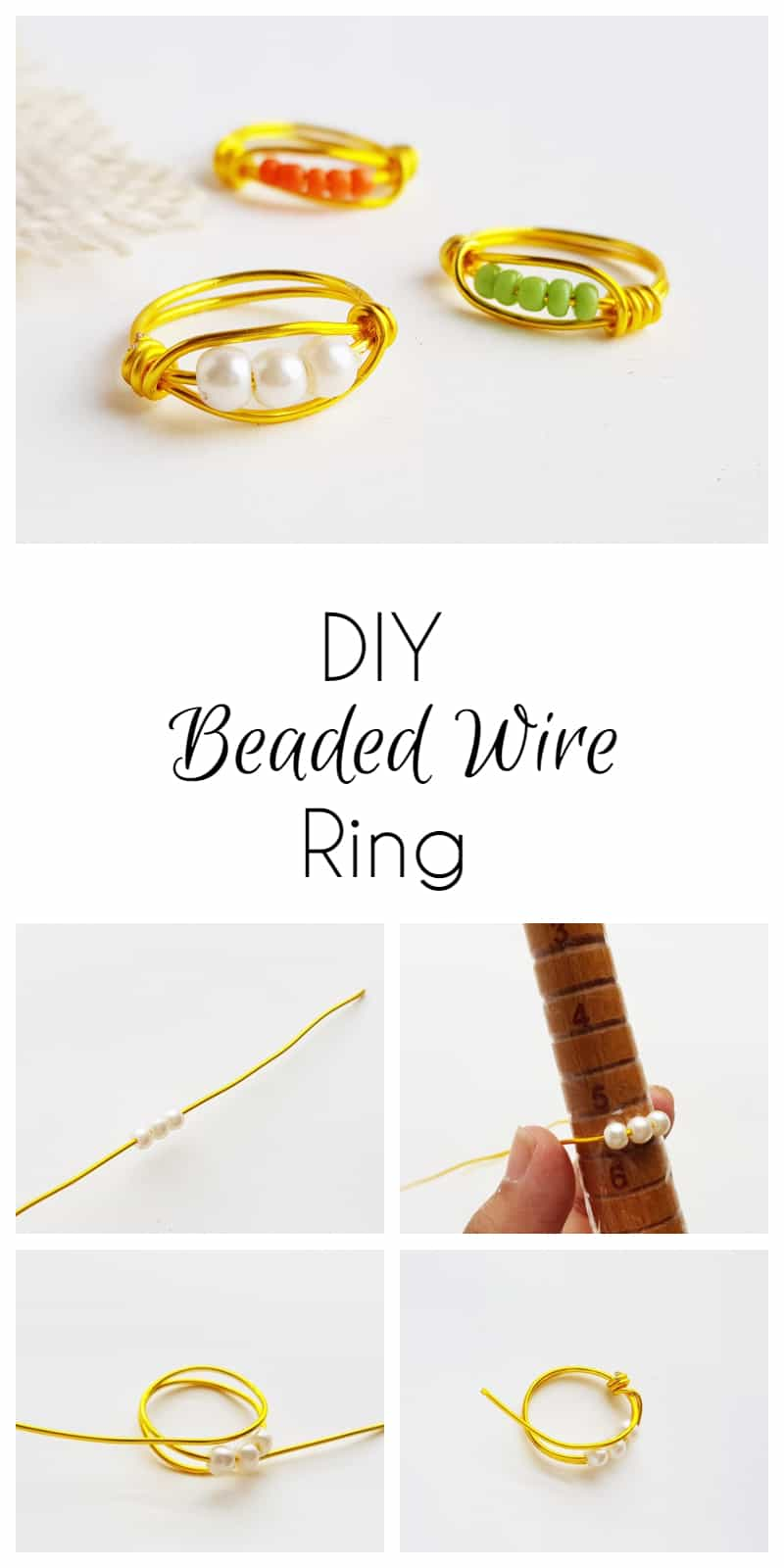 DIY Beaded Wire Ring