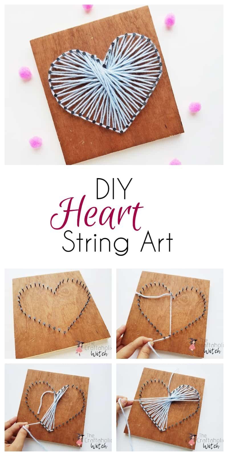 DIY Heart String Art