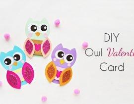 DIY Owl Valentine Card