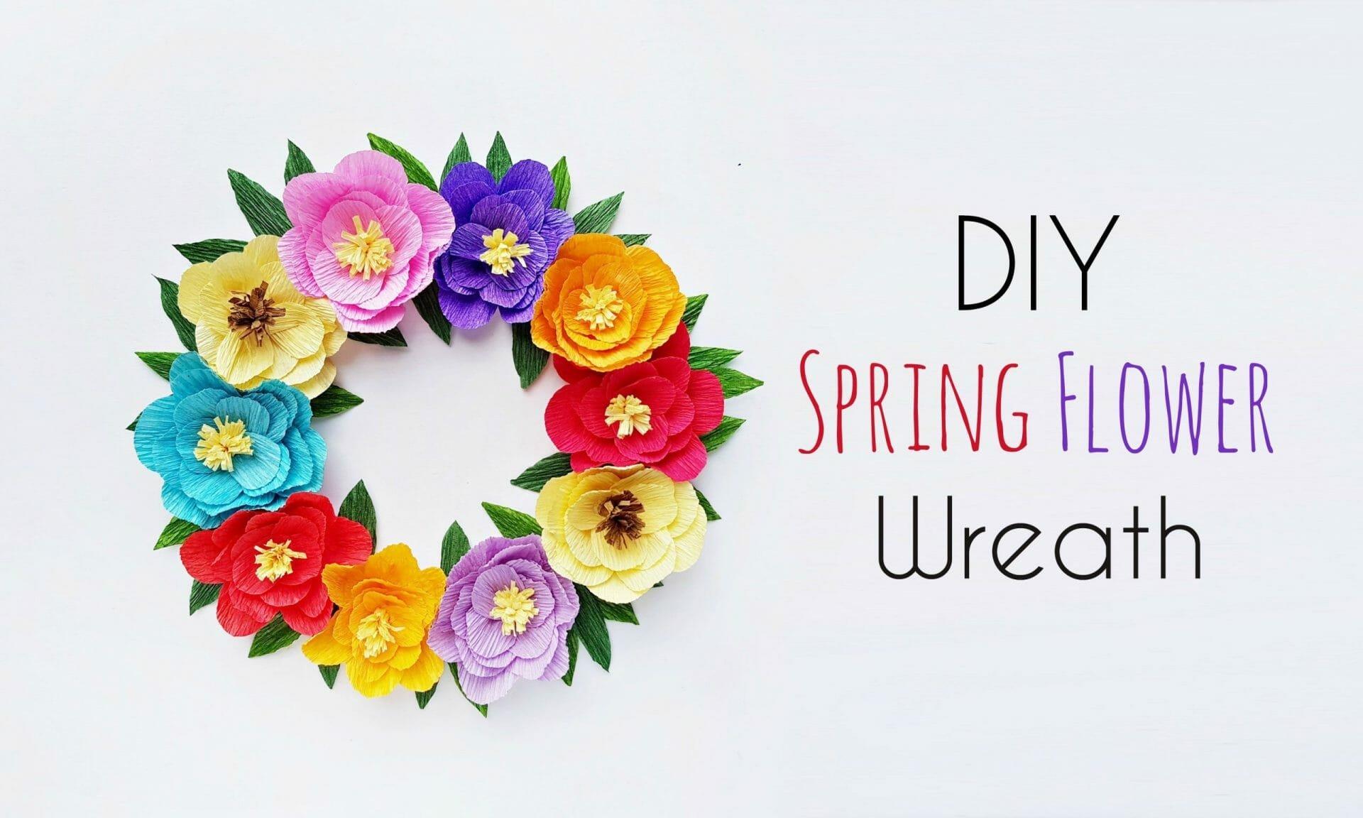 DIY Spring Flower Wreath