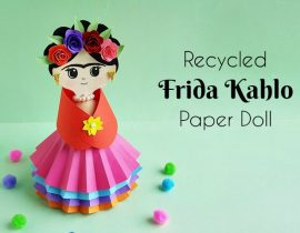 DIY Frida Kahlo Paper Doll