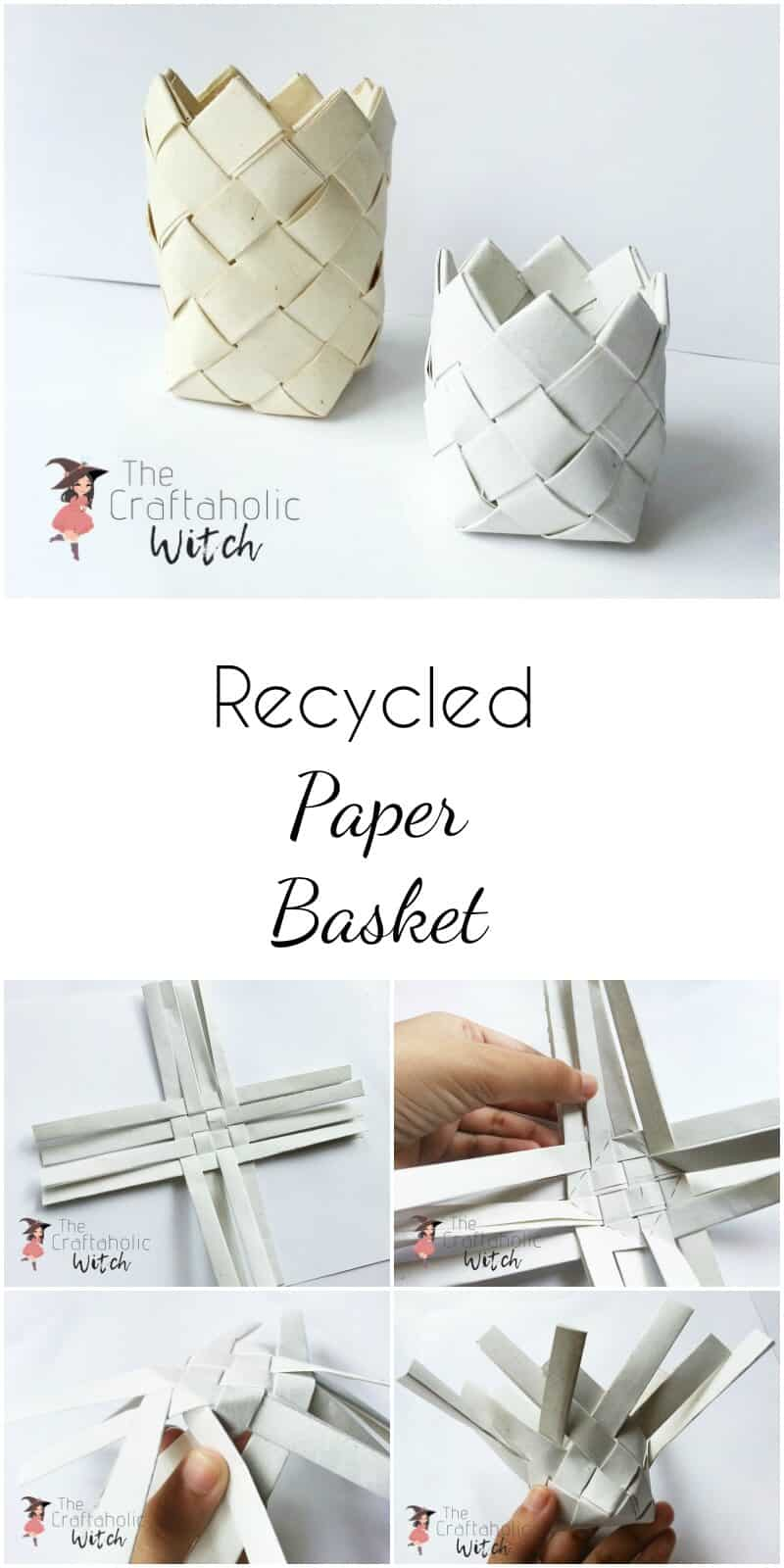 Recycled Paper Basket Weaving
