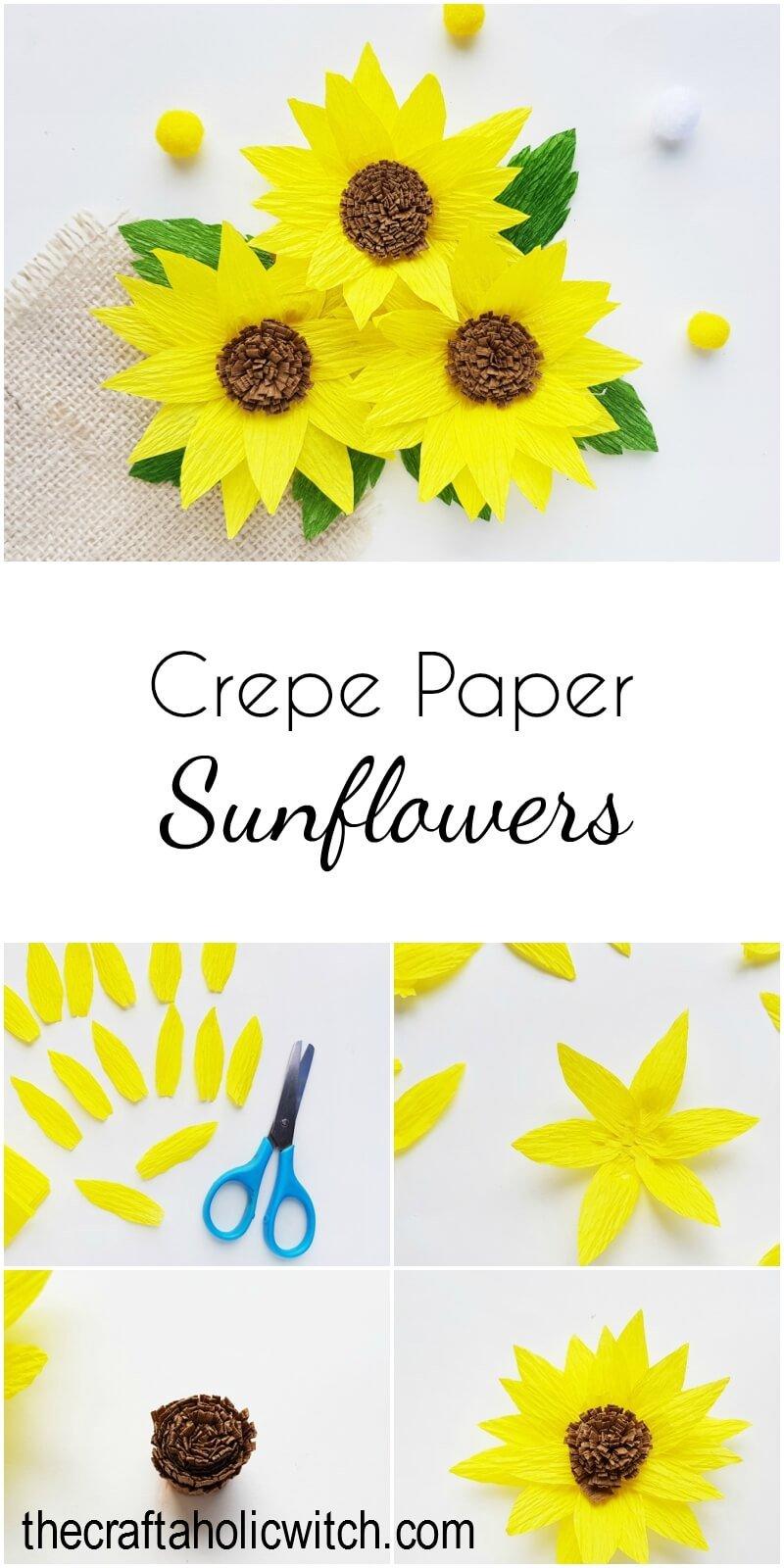 crepe paper sunflower