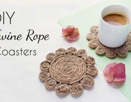 DIY Coasters | Easily Make Stylish Twine Coasters Using Rope