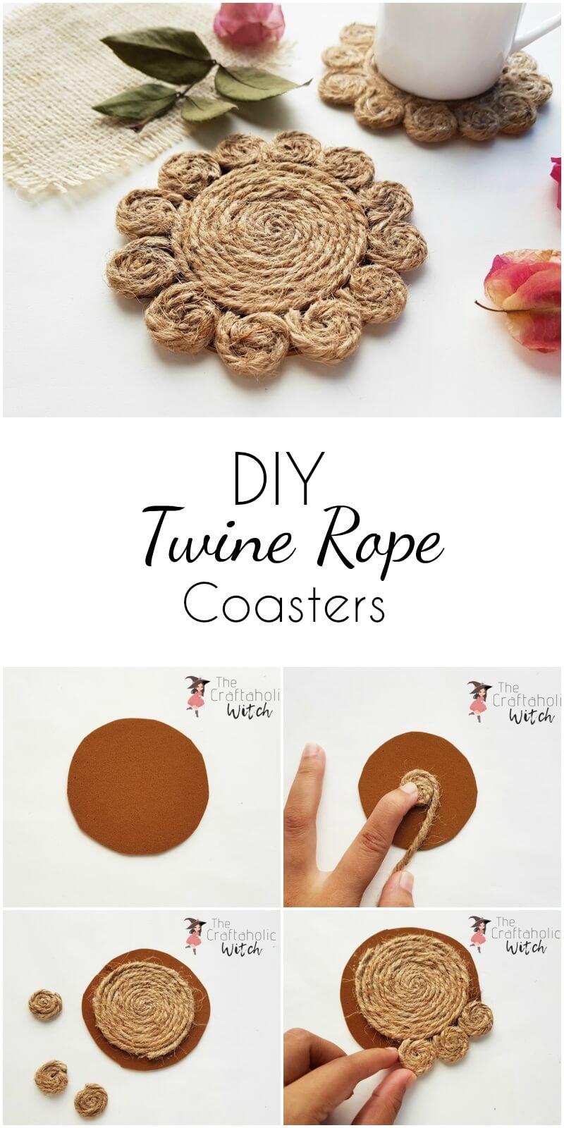 DIY twine coasters