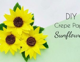 DIY Crepe Paper Sunflower Craft