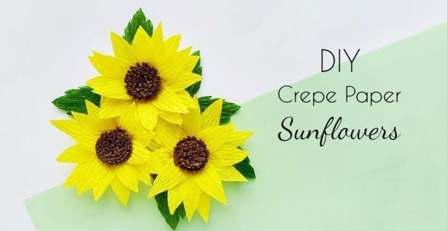 DIY Crepe Paper Sunflower Craft