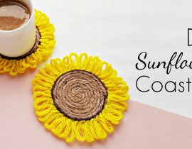 DIY Sunflower Coasters ( Easy Step by Step Tutorial)