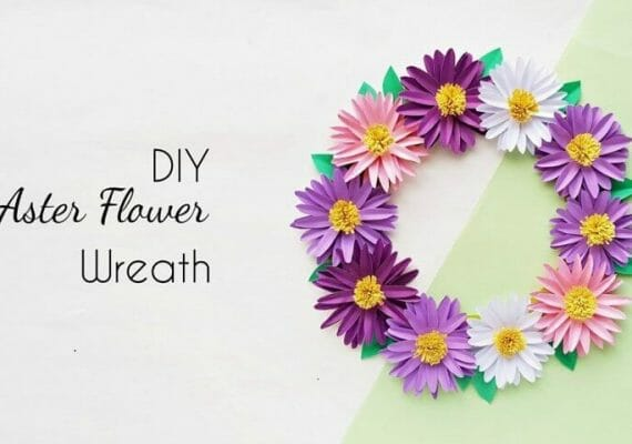 How to Make a Beautiful Aster Flower Wreath at Home