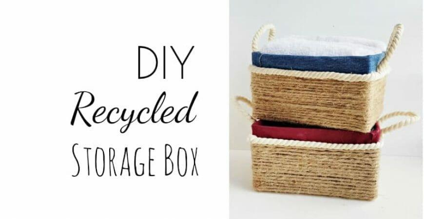 DIY Storage Box: Recycle Cardboard Box Into Storage Box