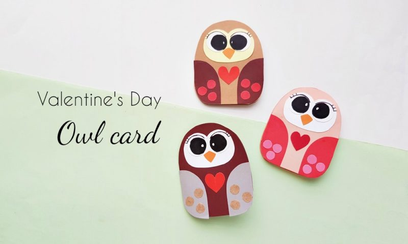 DIY Cute Owl Valentine Card (With Free Printable Template)