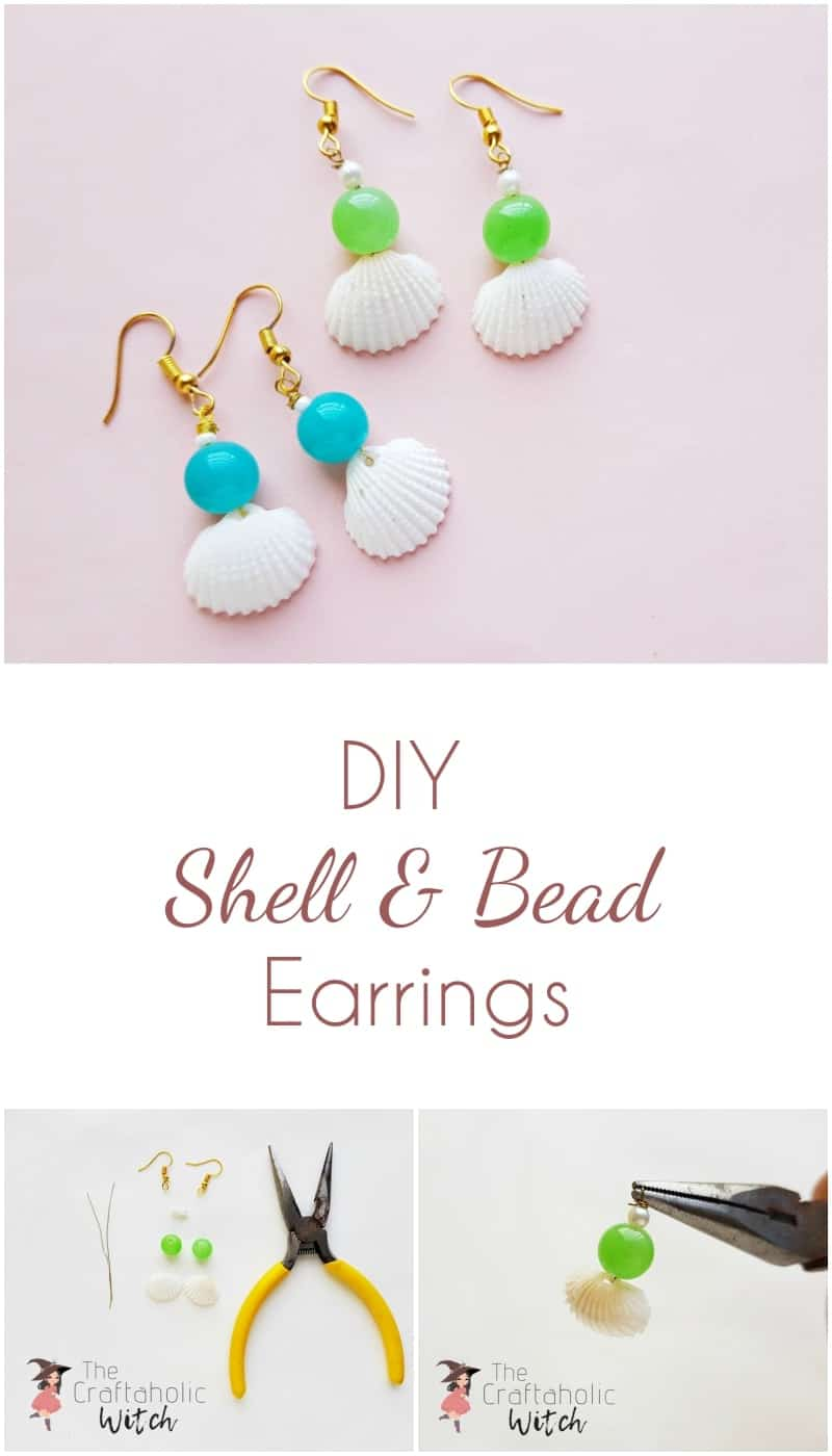 DIY Shell and Bead Earrings